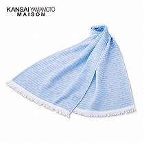<カンサイ ヤマモト メゾン>ガーゼストール1枚/ブルー