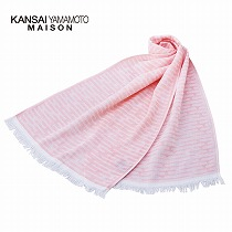 <カンサイ ヤマモト メゾン>ガーゼストール1枚/ピンク