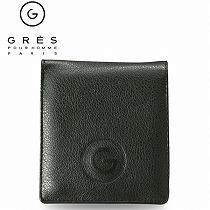 <グレ>紳士用二ツ折財布