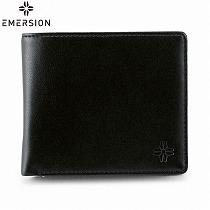 <エマージョン>メンズ二つ折財布/ブラック