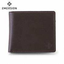 <エマージョン>メンズ二つ折財布/ブラウン