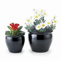 植木鉢2点セット/ブラック
