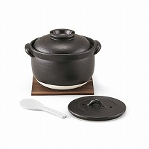 ふっくらご飯鍋(敷板・しゃもじ付)