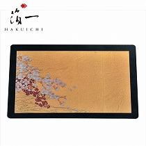 <箔一>桜に流水 箔マウスパッド